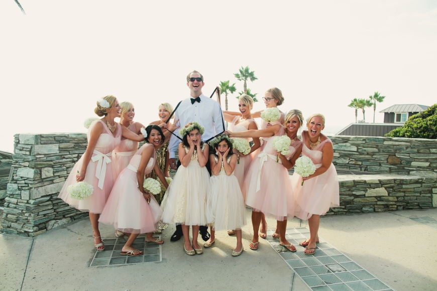 Bridesmaids and Groom-Darcy Oliver Design