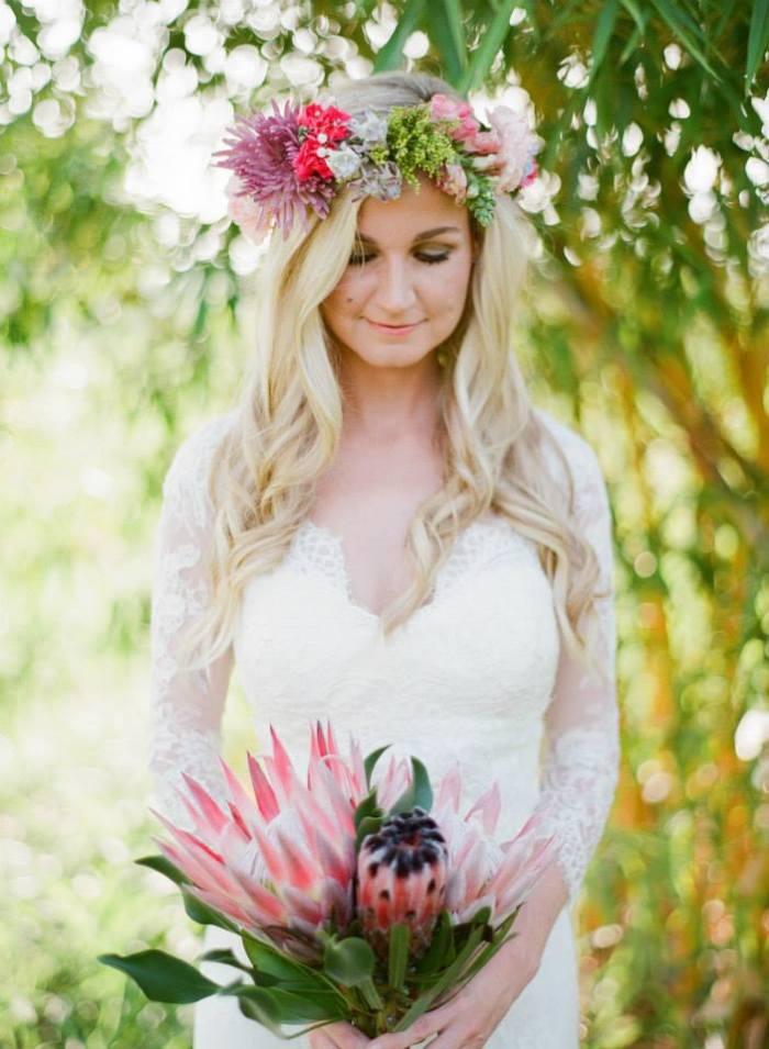 protea, floral head piece-Darcy Oliver Design
