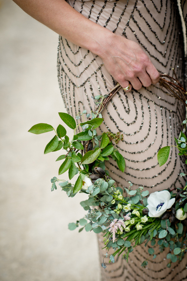 wreath bouquet, bridesmaid-Darcy Oliver Design