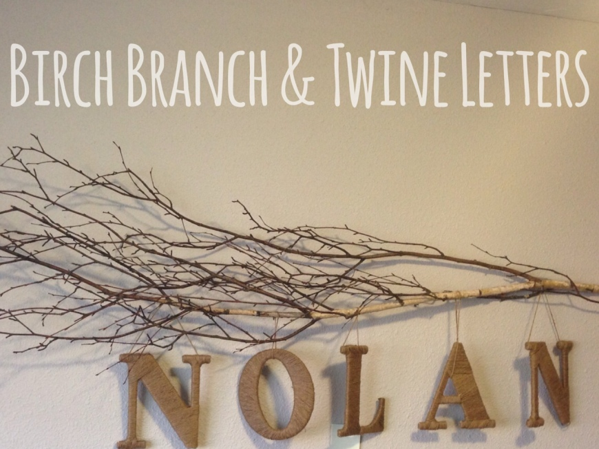 Birch Branch & Twine Letters Sign-Darcy Oliver Design