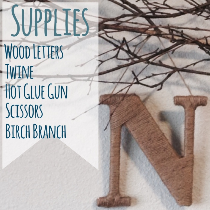Supplies for Twine Letters-Darcy Oliver Design
