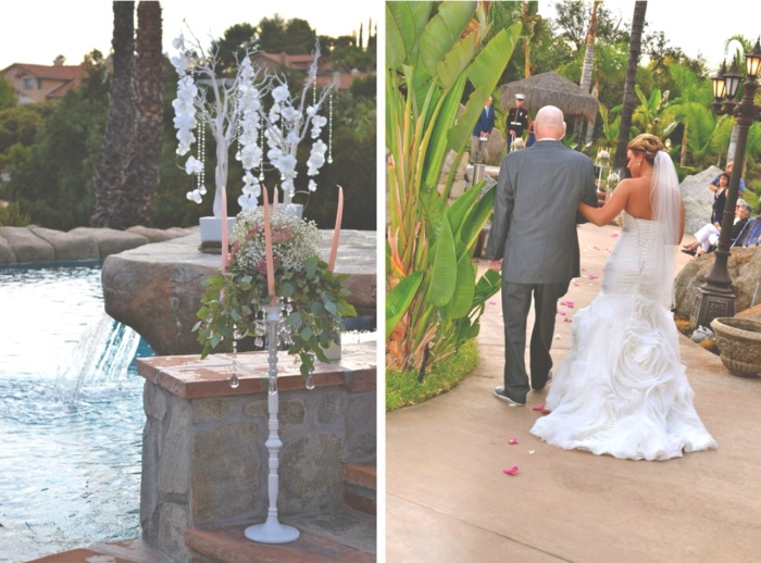 Walking Down the Aisle, trees, candelabras-Darcy Oliver Design
