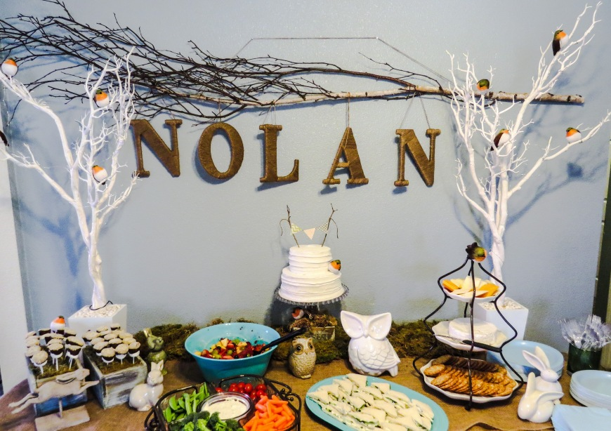 woodland themed baby shower darcy oliver design