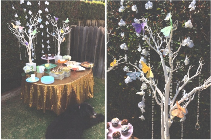 Butterflies & Crystals, Manzanita Trees, Party Decor-Darcy Oliver Design