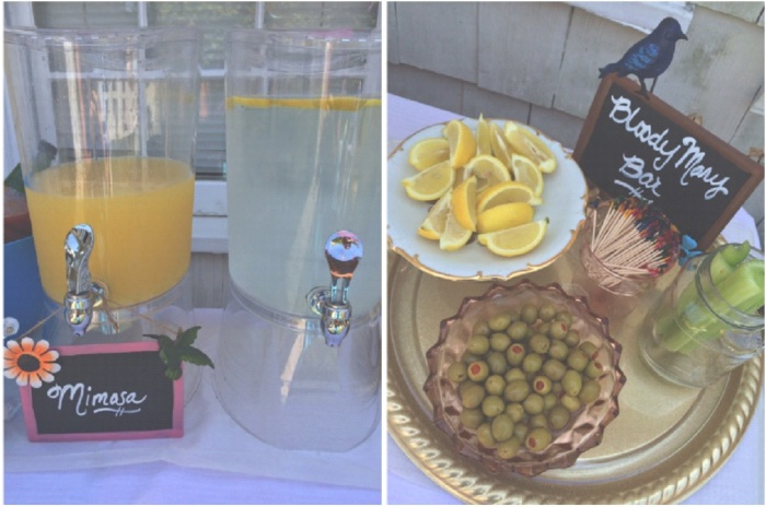 Bloody Mary Bar & Mimosas, Vintage Glass, Cake Plates-Darcy Oliver Design