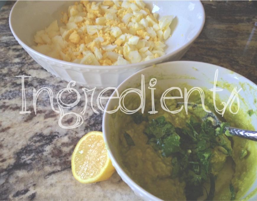 Ingredients, egg salad recipe-Darcy Oliver Design