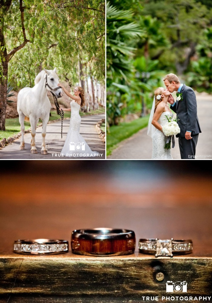 Bride, Groom, Horse, Ranch, Wedding Rings-Darcy Oliver Design