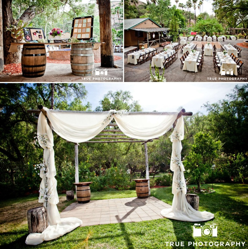 Ceremony Arch, Reception, Wine Barrels-Darcy Oliver Design