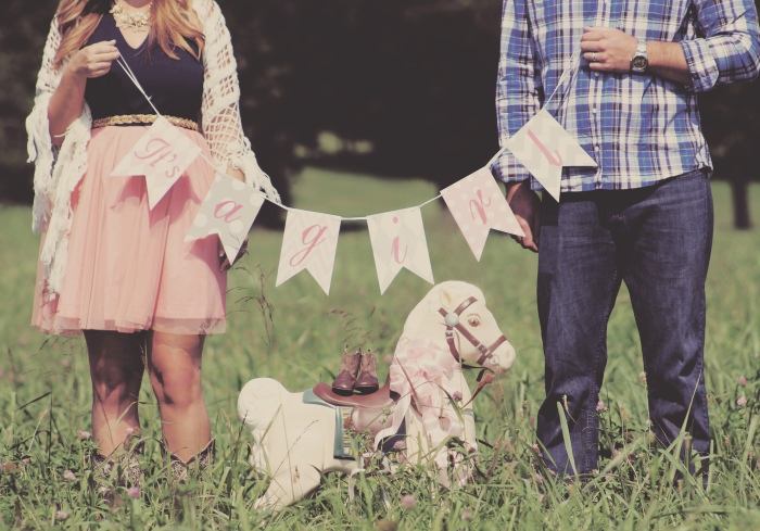 It's a Girl, Carnton Plantation, bunting-Darcy Oliver Design
