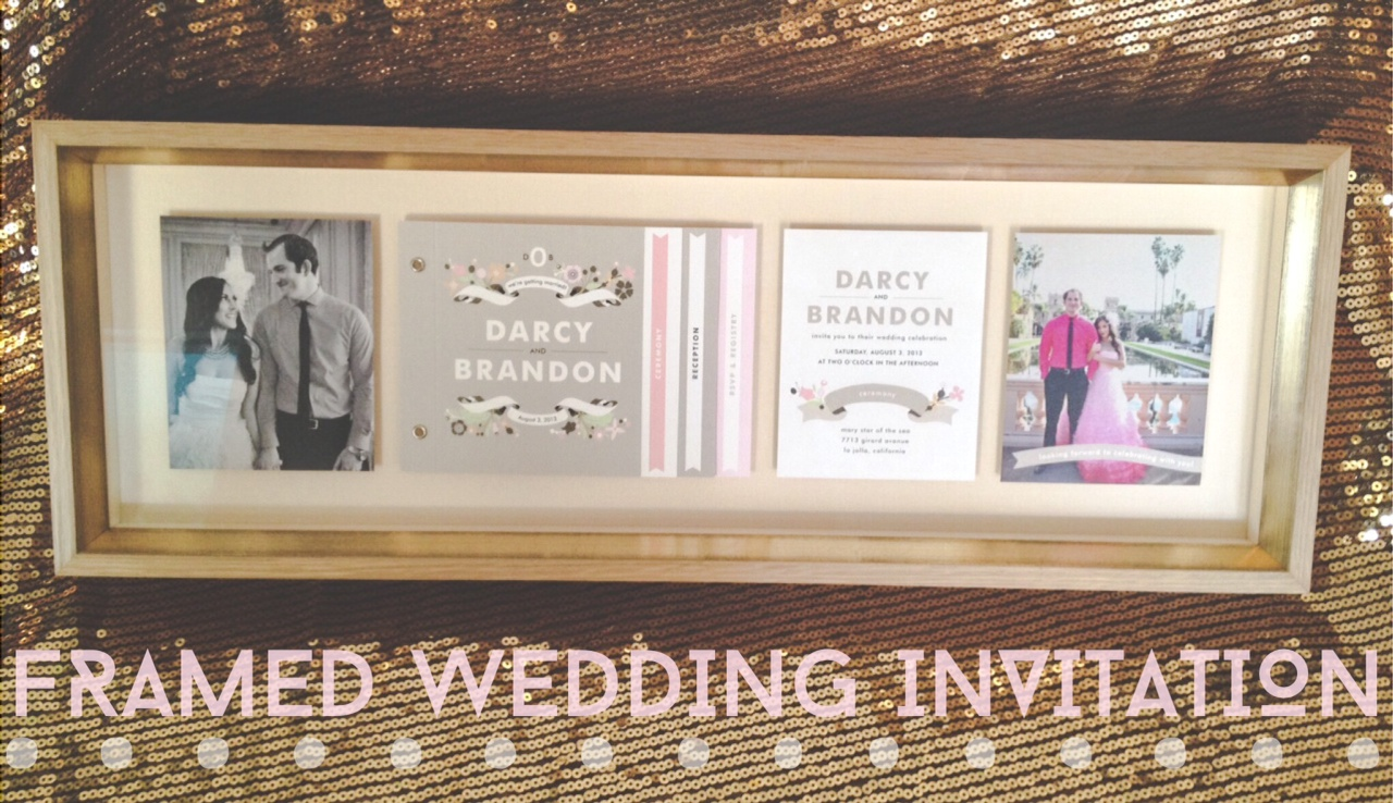 Wedding Invitation Frames: Have Your Wedding Invitation Framed