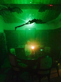 seance, skeleton, bats-Darcy Oliver Design