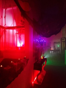 Entrance to the Haunted Halloween Soiree