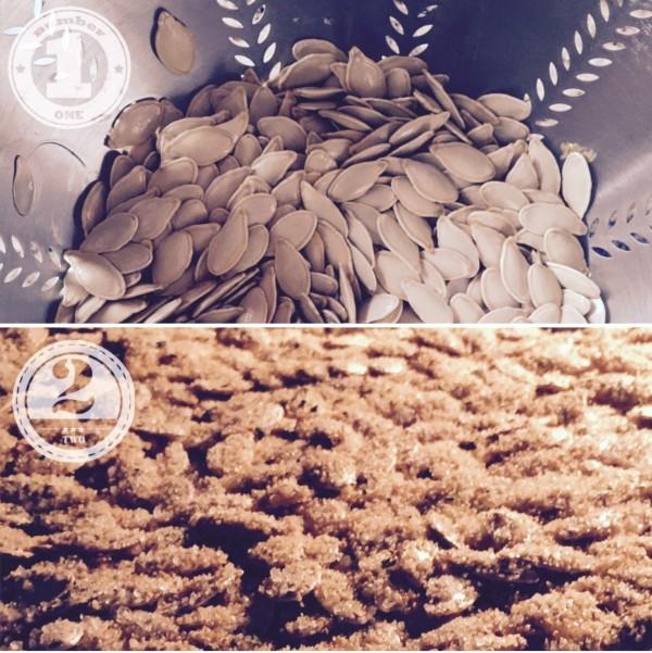 pumpkin seed steps, recipe, strain, bake-Darcy Oliver Design