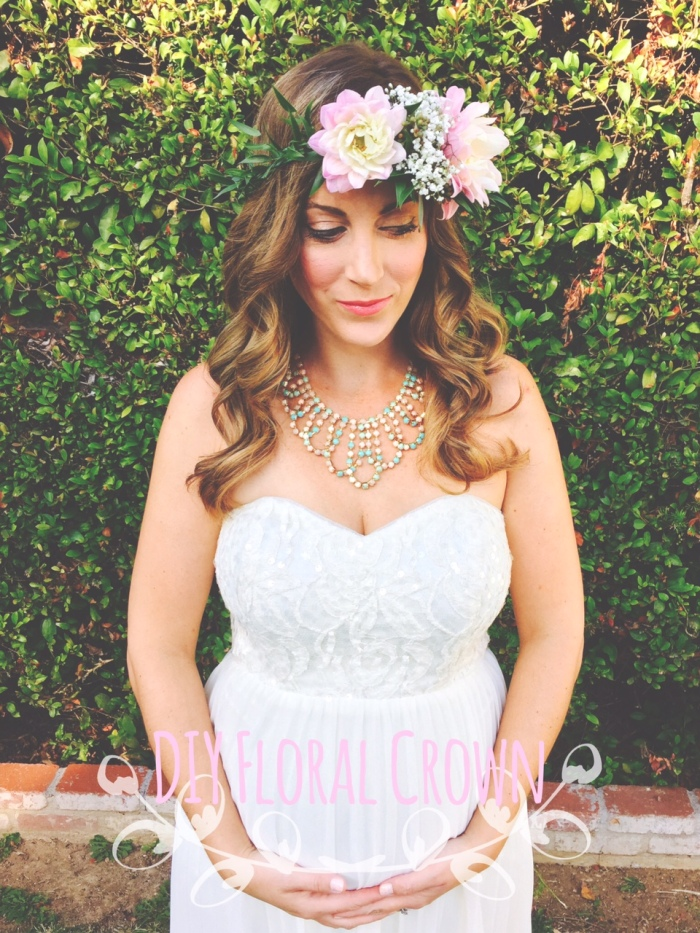 diy floral crown, foliage, flowers-Darcy Oliver Design