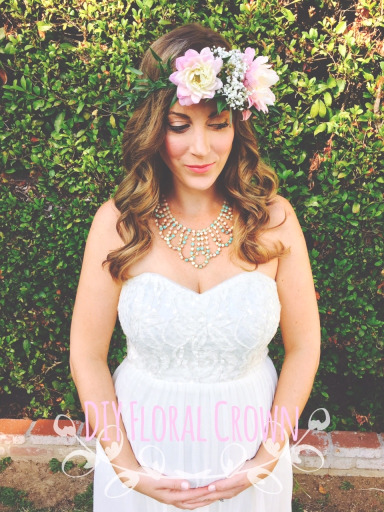diy floral crown, foliage, flowers-Darcy Oliver Design