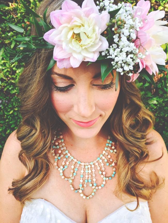 floral crown headpiece, statement piece, baby shower, weddings-Darcy Oliver Design