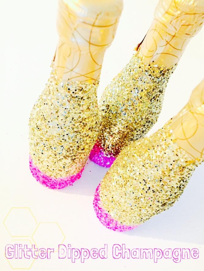 diy glitter champagne bottles-Darcy Oliver Design