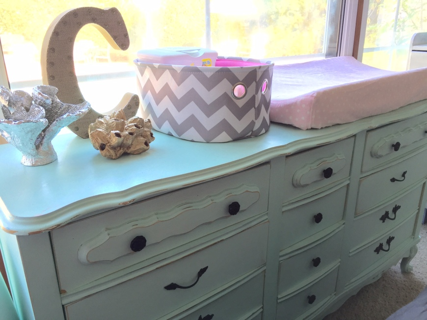 changing table, vintage dresser-Darcy Oliver Design