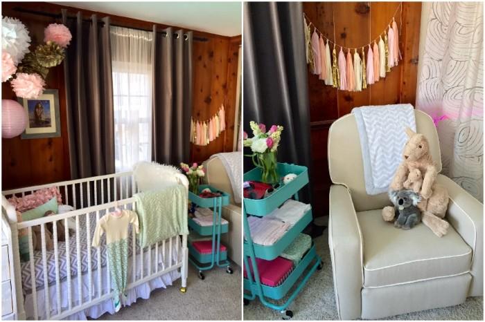 jenny lind crib, glider, nursery-Darcy Oliver Design