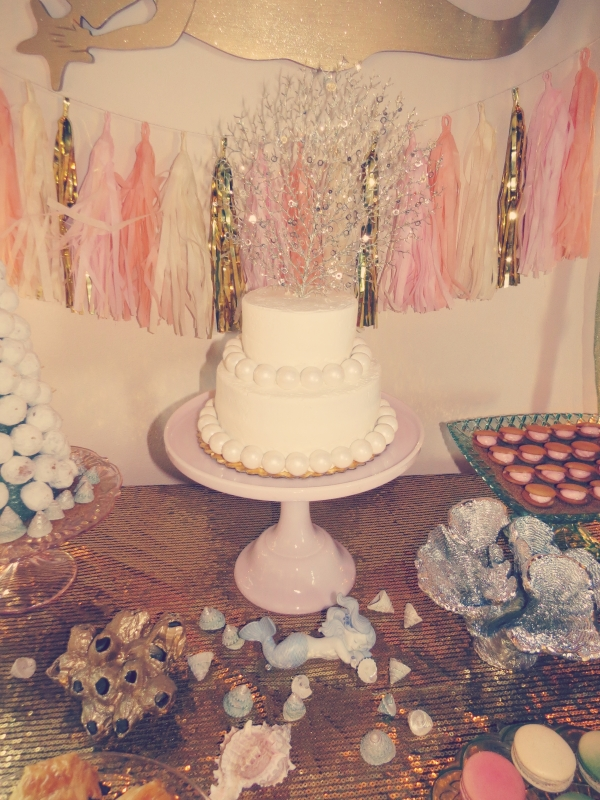 mermaid cake, baby shower decor-Darcy Oliver Design
