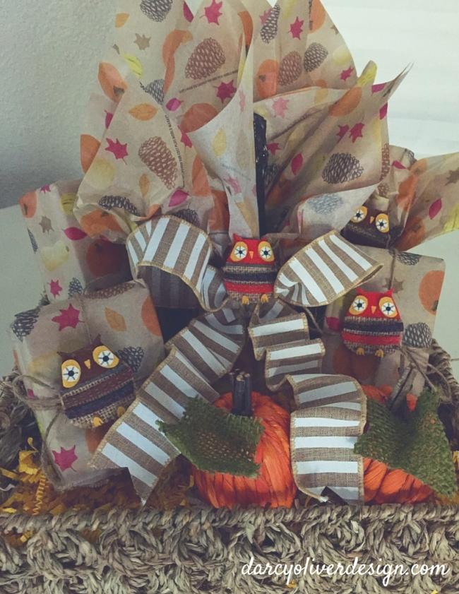 Owl Gift Basket-Darcy Oliver Design