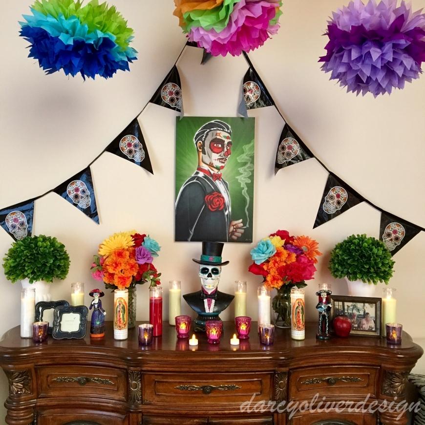 Dia de los Muertos Altar-darcyoliverdesign