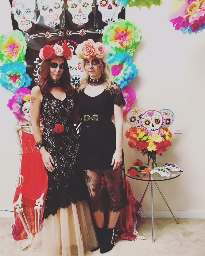 photo booth, floral crowns, day of the dead-darcyoliverdesign
