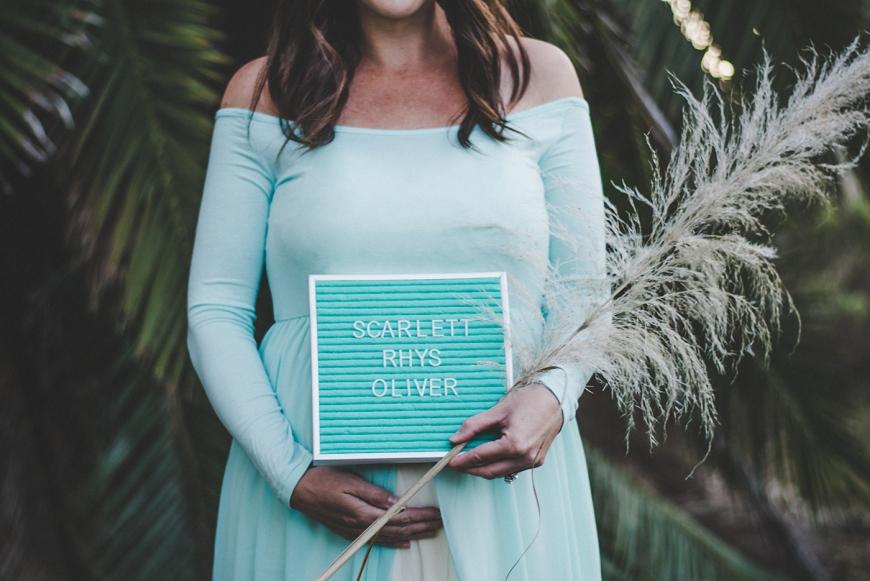 Letter Board Baby Name - Darcy Oliver Design