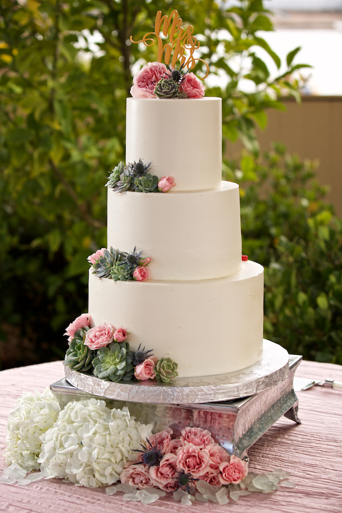 Wedding Cake by BabyCakes & Floral Design by Darcy Oliver Design